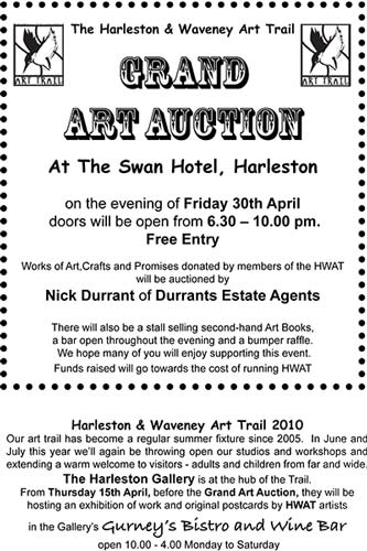 art auction flyer
