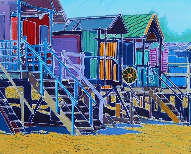 caryl-challis-holkham-bay-beach-huts-wax-batik