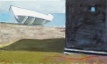 david-page-on-sizewell-beach-oil-on-canvas-33x55cm