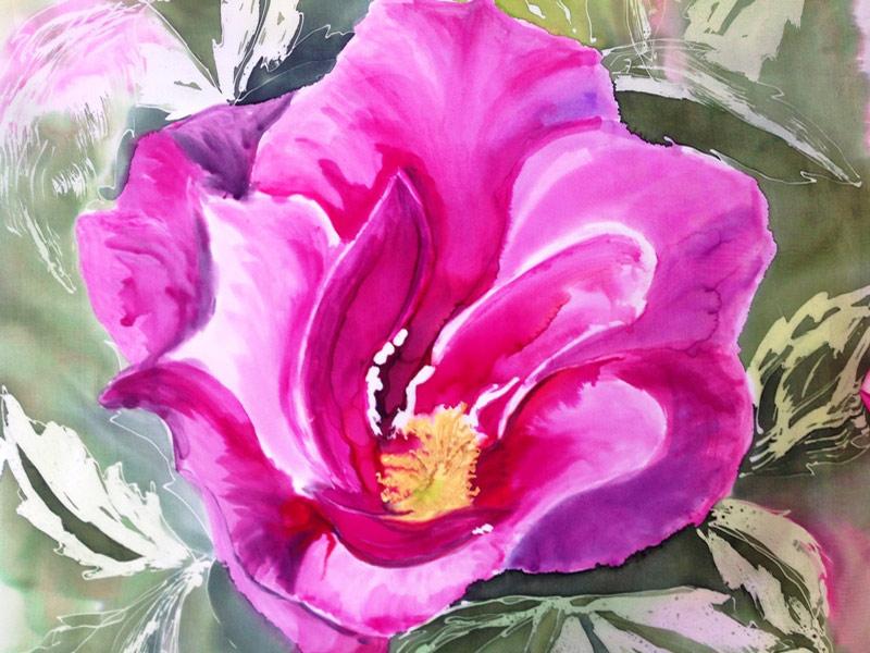 rose-martin-vibrant-rose-painted-on-silk