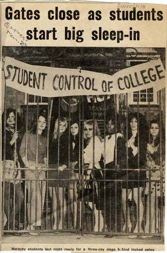 hornsey art school protest 1968
