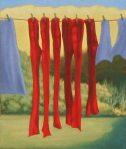 Alan Frewin, Winter Socks, oil on canvas, 30cmx25cm