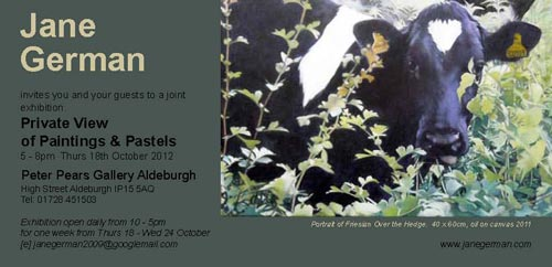 jane german  exhibition - peter pears gallery, aldeburgh