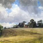 Malcolm Cudmore, Keswick, Norwich, oil on board, 20cmx20cm