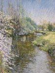 Andrew Vessey, Waveney-at-shotford-pastel-on-paper
