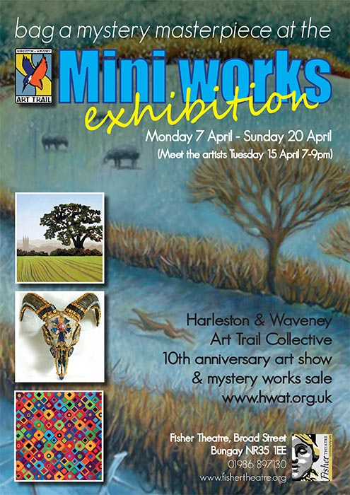 hwat-mystery-masterpiece-exhibition-poster-fisher-theatre-bungay-2014