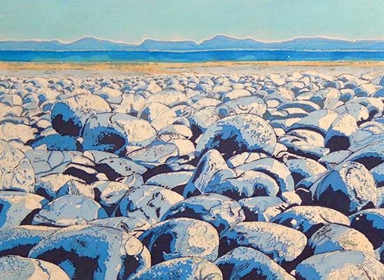 caryl-challis-beach-pebbles-ii-batik-art