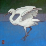 jane-german-waveney-egret-oil-on-canvas-30cmx30cm