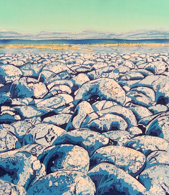 caryl-challis-beach-pebbles-wax-batik